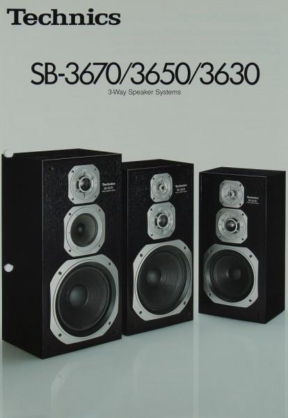 technics sb 3670 3650 3630 prospekt katalog lautsprecher technics prospekte. Black Bedroom Furniture Sets. Home Design Ideas