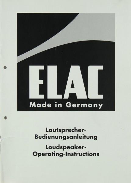 Elac EL 170 S u.a. Bedienungsanleitung