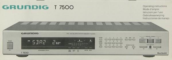 Grundig T 7500 Bedienungsanleitung