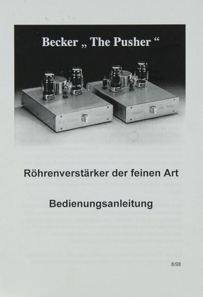 Becker The pusher Bedienungsanleitung