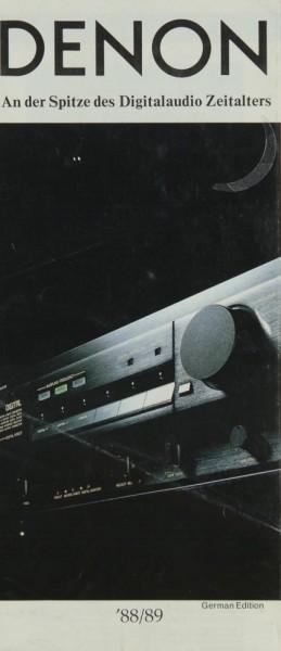 Denon Lieferübersicht 1988/89 Prospekt / Katalog