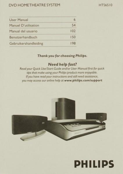 Philips HTS 6510 Bedienungsanleitung
