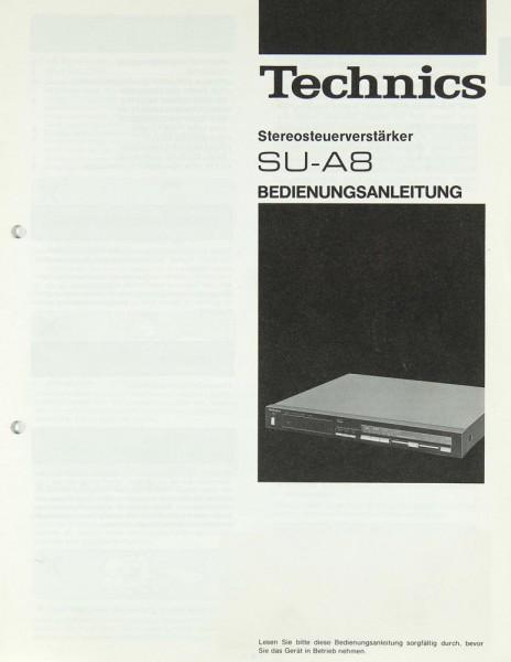 Technics SU-A 8 Bedienungsanleitung