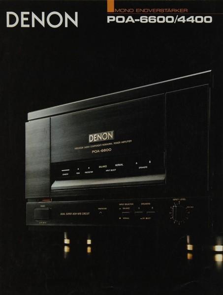 Denon POA-6600/4400 Prospekt / Katalog