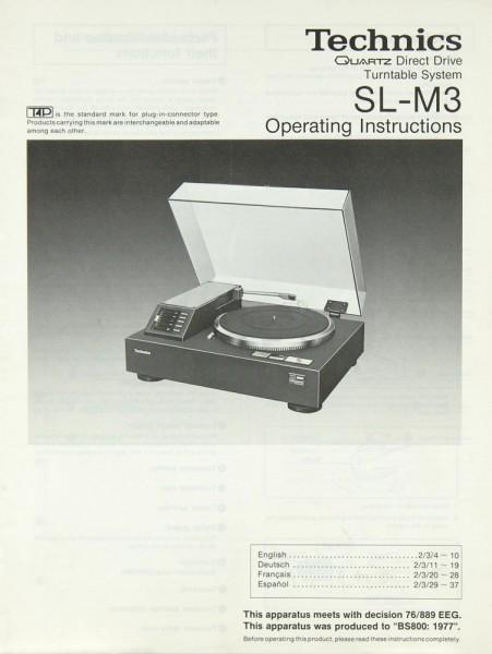 Technics SL-M 3 Bedienungsanleitung