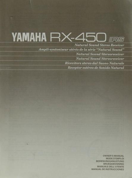 Yamaha RX-450 Bedienungsanleitung
