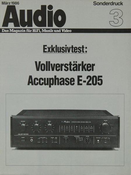 Accuphase E-205 Prospekt / Katalog