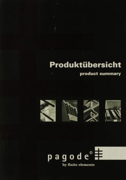 Finite Elemente Pagode - Produktübersicht Prospekt / Katalog