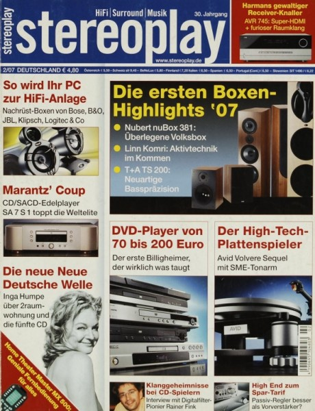 Stereoplay 2/2007 Zeitschrift