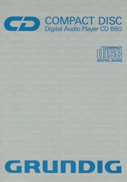Grundig CD 660 Bedienungsanleitung