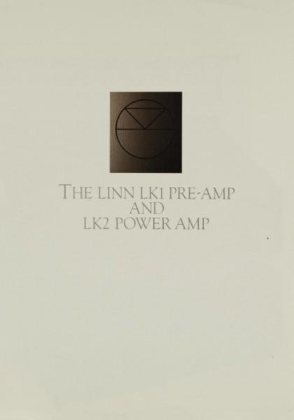 Linn LK1 Pre-Amp / LK2 Power Amp Prospekt / Katalog