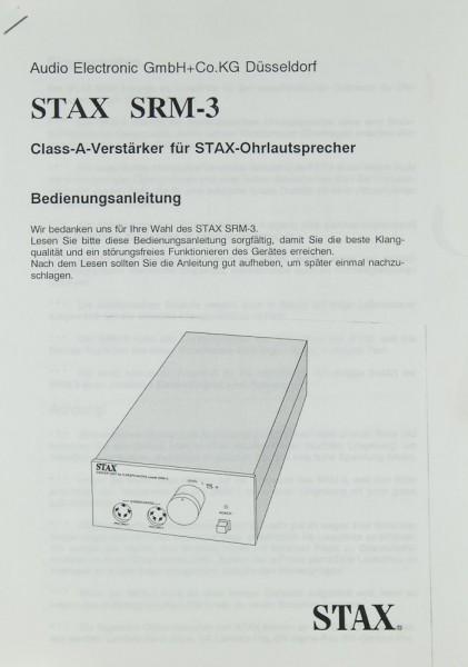 Stax SRM-3 Bedienungsanleitung