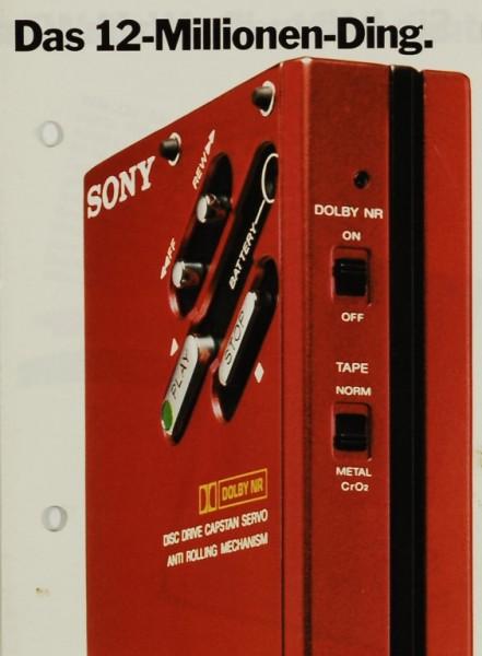 Sony Das 12-Millionen-Ding. Prospekt / Katalog