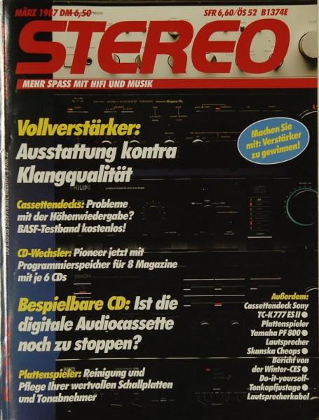 Stereo 3/1987 Zeitschrift