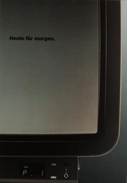 Braun Heute für morgen. TV 3 Prospekt / Katalog