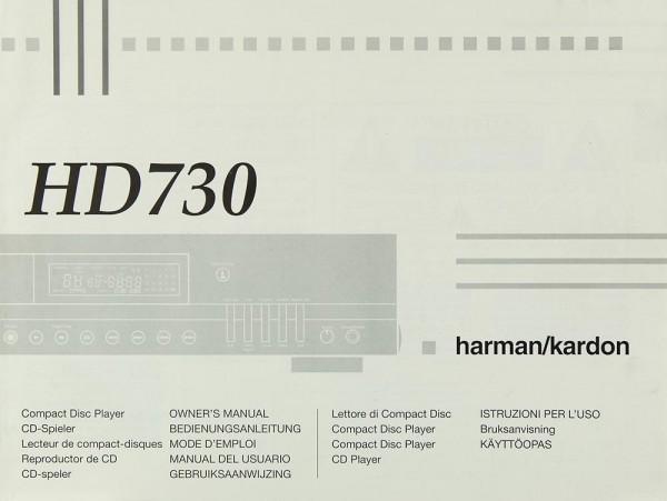 Harman / Kardon HD 730 Bedienungsanleitung