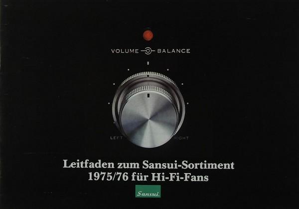 Sansui Sortiment 1975/76 Prospekt / Katalog