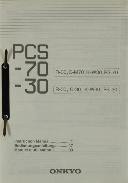 Onkyo PCS-70 / PCS-30 Bedienungsanleitung