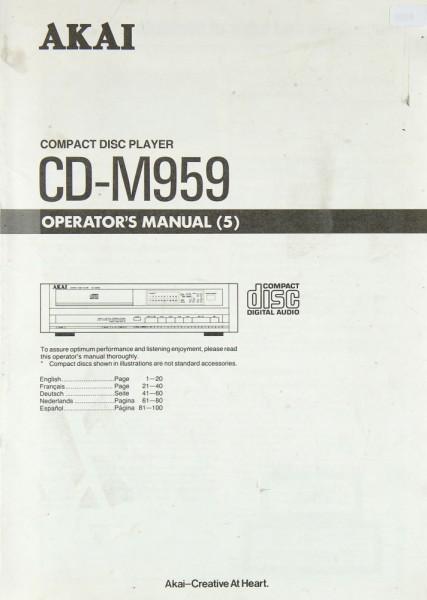 Akai CD-M 959 Bedienungsanleitung