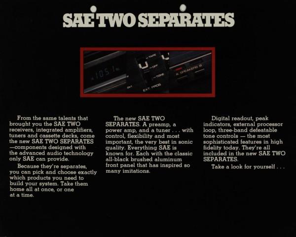 SAE Two Sae Two Seperates: T6 / PA10 / P10 Prospekt / Katalog