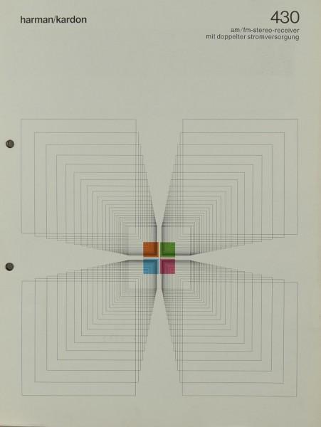 Harman / Kardon 430 Prospekt / Katalog