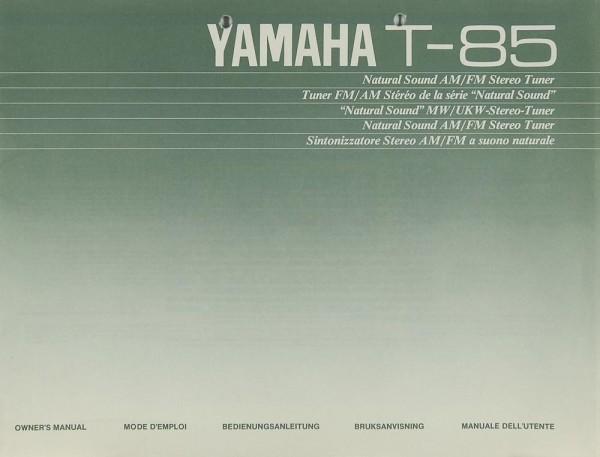 Yamaha T-85 Bedienungsanleitung