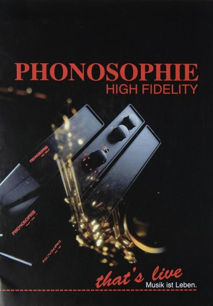 Phonosophie Produktübersicht Prospekt / Katalog