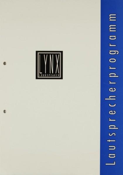 Lynx Lautsprecherprogramm Prospekt / Katalog