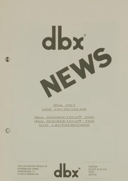 dbx DX 3 / Soundfield One & Ten Prospekt / Katalog