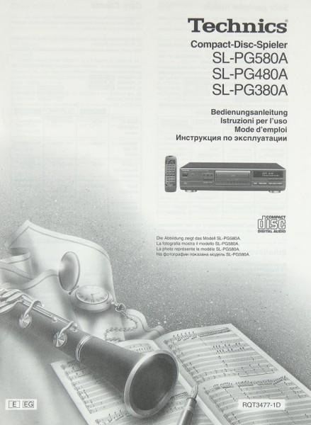 Technics SL-PG 580 A / SL-PG 480 A / SL-PG 380 A Bedienungsanleitung