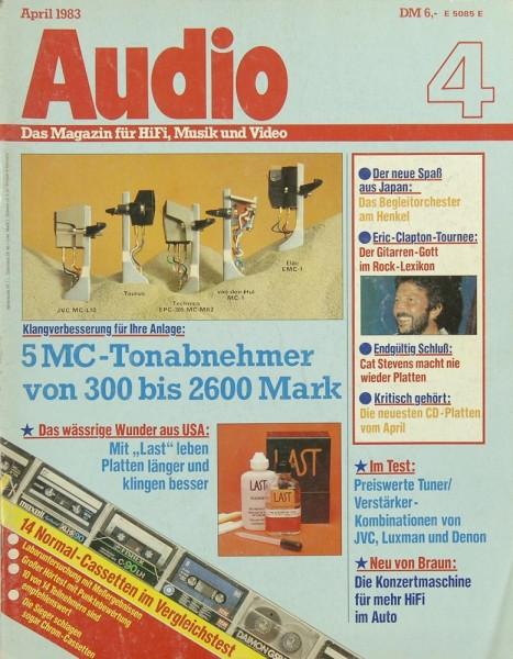 Audio 4/1983 Zeitschrift