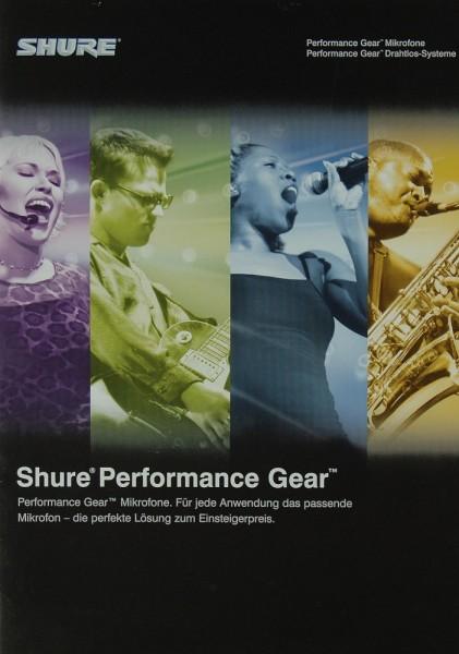 Shure Performance Gear Prospekt / Katalog