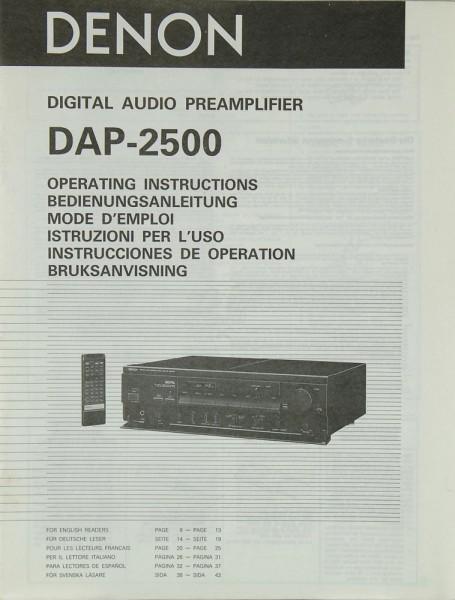 Denon DAP-2500 Bedienungsanleitung