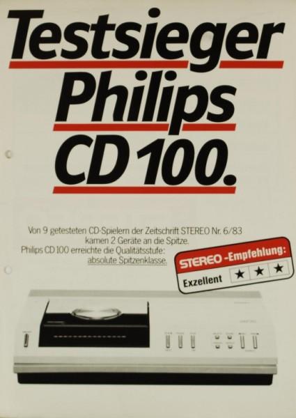 Philips CD 100 Testnachdruck