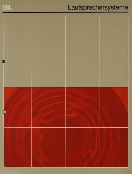 JBL Lautsprechersysteme Prospekt / Katalog