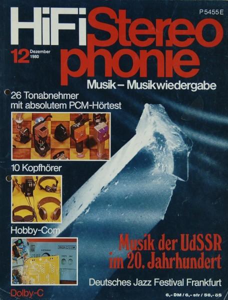 Hifi Stereophonie 12/1980 Zeitschrift