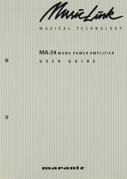 Marantz MA-24 Bedienungsanleitung