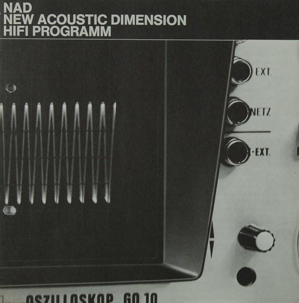 NAD New Acoustic Dimension Hifi Programm Prospekt / Katalog