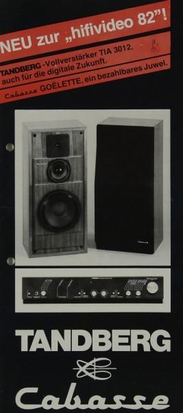 Tandberg / Cabasse Tandberg TIA 3012 / Cabasse Goëlette Prospekt / Katalog