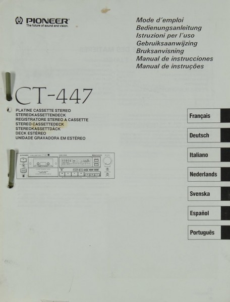 Pioneer CT-447 Bedienungsanleitung