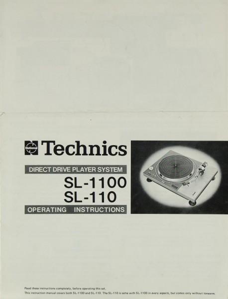Technics SL-1100 / SL-110 Bedienungsanleitung