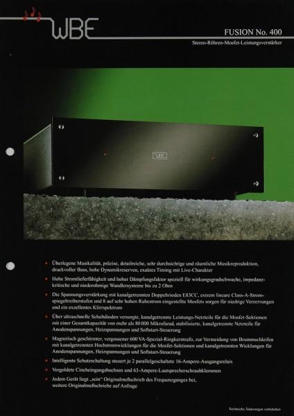 WBE Fusion No. 400 Prospekt / Katalog