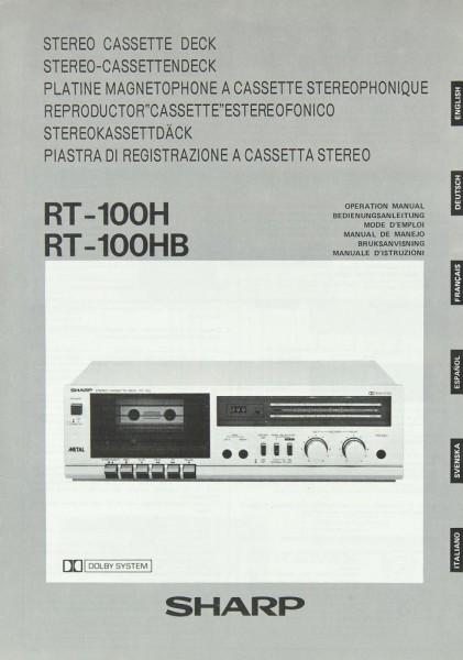 Sharp RT-100 H / RT-100 HB Bedienungsanleitung