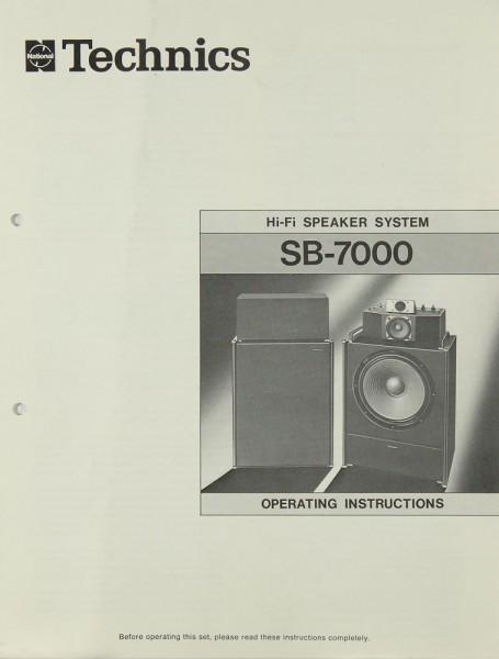 Technics SB-7000 Bedienungsanleitung