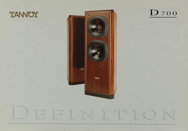 Tannoy D 700 Prospekt / Katalog