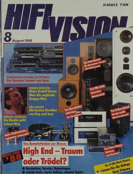 Hifi Vision 8/1988 Zeitschrift