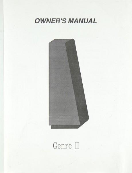 Genesis Genre II Bedienungsanleitung