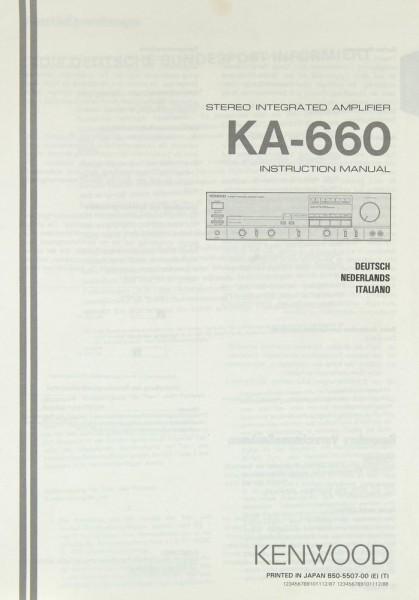 Kenwood KA-660 Bedienungsanleitung