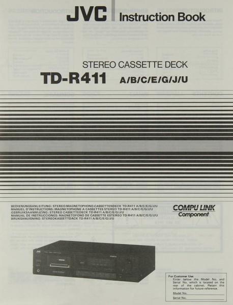 JVC TD-R 411 A/B/C/E/G/J/U Bedienungsanleitung