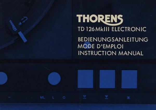 Thorens TD 126 MK III Elektronik Bedienungsanleitung